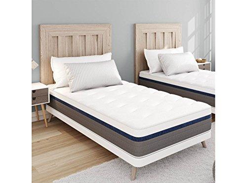 Colchón Memory Zen 90 x 190 cm Memoria de forma MEMORYTEX 42 kg/m3, MEMO-LATEX 60 kg/m3 - 2 caras + 7 zonas de confort – 25 cm - OBED