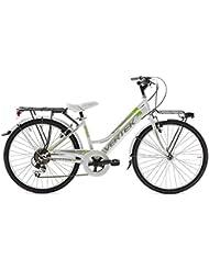 "VERTEK mujer City para bicicleta 26"" trendy 7 Velocidades negro verde (City)/Bike woman City 26"" trendy 7 white green City speed ()"