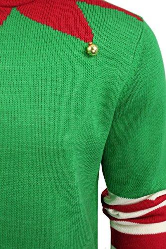Threadbare - Herren Pullover Weihnachten 3D Kapuzenpullover Pinguin, Rentier Oder Weihnachtsmann Buddy Elf