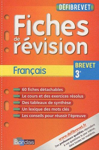 DEFIBREVET FICHES FRANCAIS 3E