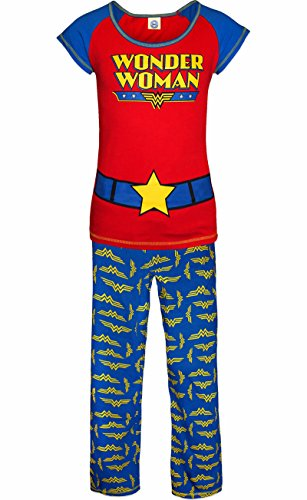 Ladies Girls Novelty Pyjamas Set PJ Wonder Super Woman, Minnie Mouse, Tatty Teddy, Frozen, 101 Dalmatians, Eeyore, Avengers designs - UK Size 8 - 22
