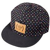 Belsen Damen Hip-Hop Farbgitter Baseball Cap Trucker Hat (Schwarz)
