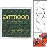 ammoon Jeu complet de cordes pour violon Taille 1/2et 1/4cordes en acier G D A et E Cordes de haute qualité 1/2 & 1/4