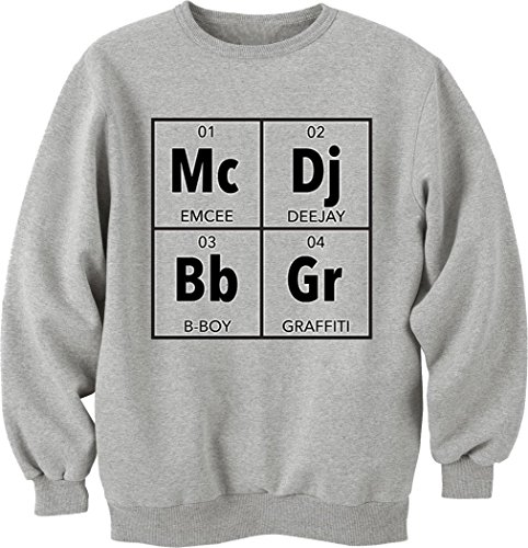 Hip-Hop Elements T-Shirt Unisex Crewneck Sweatshirt Large (Quest Shirt Crew)