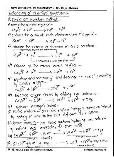 Handwritten Notes of Chemistry-Class 11th (Handwritten Notes)
