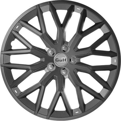 GULF E16GT40.BG Enjoliveur GT40, Noir/Gris, Set de 4, 16\