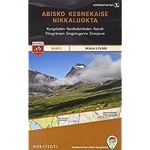 Outdoorkartan Schweden 01 Abisko - Kebnekaise - Nikkaluokta 1 : 75 000: amtliche Karte