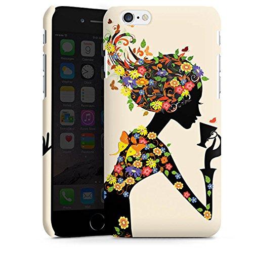 Apple iPhone X Silikon Hülle Case Schutzhülle Kaffee Blumen Silhouette Premium Case matt