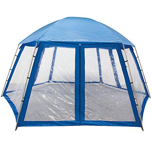 Miganeo Premium-Pavillion 500x433x250 cm zb. für Pool Zelt Metall Partyzelt Gartenpavillion PP93004