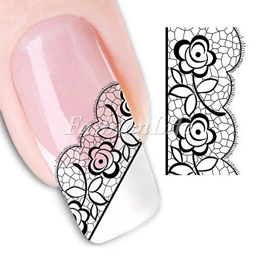 Stickers Pour Ongles avec des Fleurs - Dente Nail Sticker Tattoo - FashionLife