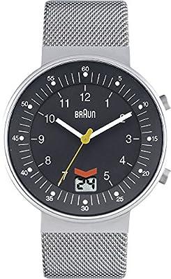 Braun BN0087BKBKMHG - Reloj analógico de cuarzo para hombre con correa de acero inoxidable