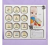 My First Year baby Fotorahmen collage Rahmen, ideal für Hochzeiten, GEBURTSTAGS-, baby, als Geschenk, als WEIHNACHTS- und more...