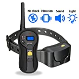 Focuspet Remote Dog Training Collar, Anti-Bark Training Electronic Collar No Shock with Vibration/Beep/Light
