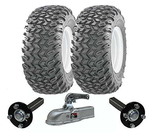Hochleistungs-ATV-Anhänger-Kit - Quad-Anhänger - Wanda-Räder + SteelPress-Produktion Naben- / Achsschenkel-Achsen, Gussteil schwerer Hochleistungs-900kg (Anbaugeräte Für Atv)