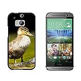 Baby Duck–Entchen–Snap on Hard Schutzhülle für HTC One M8–Schwarz