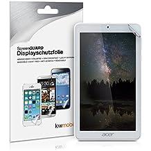 kwmobile Lámina protectora de pantalla MATE y ANTIREFLECTANTE con efecto antihuellas para Acer Iconia One 7 B1-770 - CALIDAD SUPERIOR