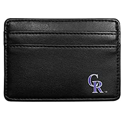 MLB Colorado Rockies Leather Weekend Wallet, Black