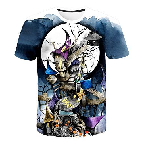 ner Frauen Hemd Volle Serie Zombie Braut 3D Männer T Shirt Gedruckt Halloween Karneval Nacht Magie Tops ()