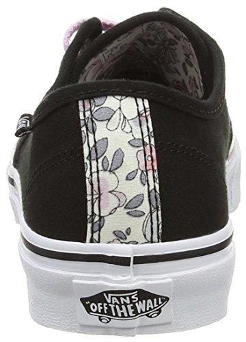 Vans Camden Stripe, Baskets Basses Femme Noir (Vintage Floral/Black/Lavender)