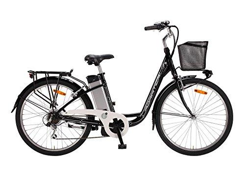 """Bicicletta Elettrica a Pedalata Assistita Da Donna 26\"""" H45 250W Cicli Adriatica E-Bike E2 Lady Nera"""