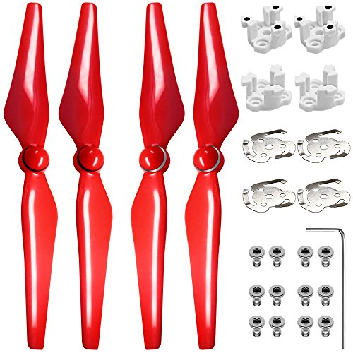 9450S Propellers for DJI Phantom 4, FineGood 2 Pairs (4 Parts) Propellers for Drone Quadcopter Helicopter - Red
