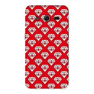 Red Pattern Diamond Back Case Cover for Galaxy Core 2