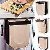 DUTISON Kitchen Poubelle Pliable Wall Mounted pour Voiture Bureau à Domicile 9L Cuisine Can (Marron)...