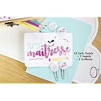 Super Maîtresse - merci maîtresse - kit - cadeau fin d'année - carte