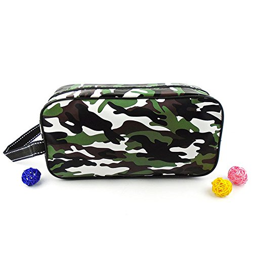 HOYOFO Herren oder Damen Kulturbeutel/Turnbeutel/Kosmetiktasche camouflage grün (Wash Pullover Bag)