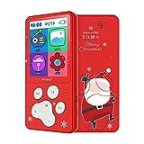 Lettore MP3 Bambini Schermo 2.4'' HD Regalo di Natale Fiocco di Neve MP3 Bambino 8 GB con Fantasia Babbo Natale, Giochi Radio FM E-Book Registratore Vocale Calendario (Rosso)
