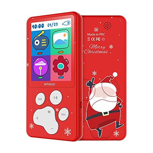 """Kinder MP3 Player 2.4"""" Bildschirm 8 GB MP4 Player in Tierpfoten-Design,Spiele, FM-Radio, Sprachaufzeichnung (Rot)"""