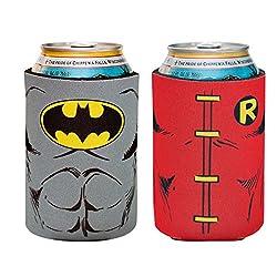 ICUP DC Batman & Robin Character Huggie/Koozie (2 Pack), Clear