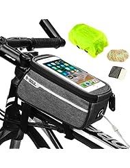 Weeygo Bolsa de Bicicleta, Bolsa de Marco de Bicicleta Bolso Impermeable del Soporte del teléfono