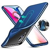 Elewelt Huawei P20 Lite Hülle, [für Magnetische Halterung] Ultra Dünn Soft TPU Handyhülle mit Eingebauter Metal Plate für Magnet KFZ Autohalterung,für Huawei P20 Lite(5.85 Zoll) -Blau