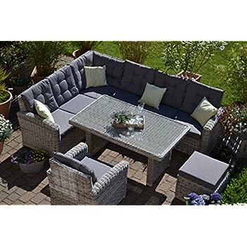 Amazon.de: Bomey Rattan Lounge Set I Gartenmöbel Set Manhattan 4 ...