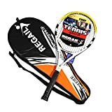 Anself Carbon Fiber Aluminium Tennis Racquets Tennis Racket Equipped with Bag Tennis Grip for Training