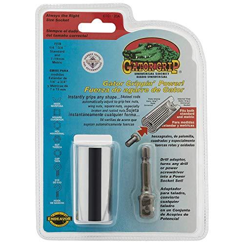 GATOR GRIP 2 Stück Universalschlüssel Universalnuss Universal Reparatur Werkzeuge Adapter in 7-19mm Multi Funktions Handwerkzeuge -