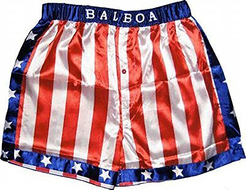 Rocky Balboa Boxhose,Boxshorts XL Ringhose,Hose,Sporthose,rot,blau,Boxen,Kostüm