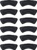 6 Paires Coussinets de Coussin de Talon Poignées à Talon Doublure Auto-Adhésif Semelles de Chaussure Protecteur de Soins des Pieds (Noir)