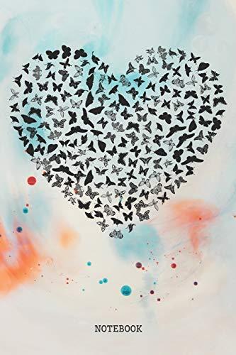 erfly Hart I Love Butterflies Planner / Organizer / Lined Notebook (6