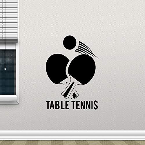 s Wandaufkleber Ping Pong Sport Vinyl Aufkleber Removable Wall Glass Decor Poster Selbstklebende Tapete Rosa 57x73 cm ()