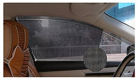 XFAY 2 pieces 42cm x 38cm Stick on Sun Shade Electrostatic Adsorption Block UV Rays Sun Protector Film for Baby Car Business Car Truck