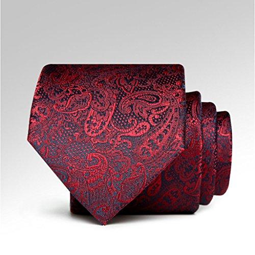Necktie Cuiping- Die neue High-End-Weinrot Muster 7cm Tie Wedding Dress stilvolle Männer Krawatte
