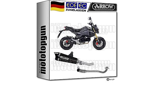 Arrow Komplettanlage Kat Homologiert Nichrom Schwarz X Kone Cc Kompatibel Mit Honda Msx 125 2019 52507xkn 52005kz Auto