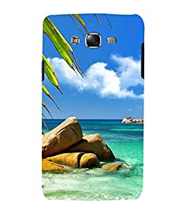 printtech Nature View Beach Back Case Cover for Samsung Galaxy E7 / Samsung Galaxy E7 E700F