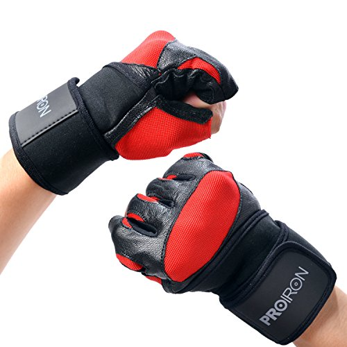 PROIRON-Weight-Lifting-Gloves-Strength-Training-Gym-Fitness-Exercise-Workout-Men-RED-L-79-87inch-20-22cm