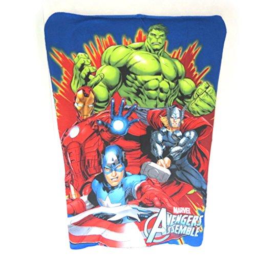 Avengers [N0497] - Plaid Polaire 'Avengers' bleu rouge vert - 140x100 cm