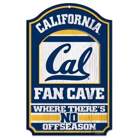 Bek College Holzschild, 11 x 17 cm Cal Golden Bears Fan Cave - Golden Bears Basketball