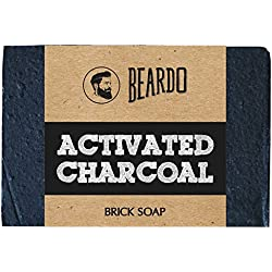 BEARDO Activated Charcoal Brick Soap, 125g