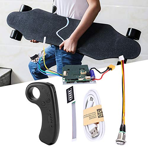 Skateboard Controller, Elektro Skateboard Longboard Single Drive ESC Ersatz Control Mainboard mit Fernbedienung